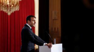 Tổng thống Emmanuel Macron phát biểu tại Hội nghị các đại sứ Pháp, Paris, ngày 29/08/2017