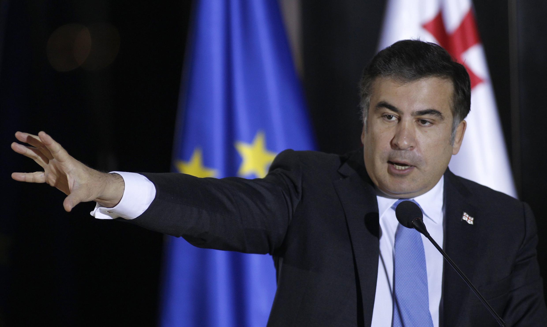 Михаил Саакашвили в Тбилиси 17/01/2013