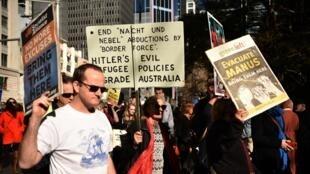 Người dân thành phố Sydney tuần hành đòi ngưng chính sách di dân khắc nghiệt ngày 21/07/2018.