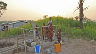 Le camp de refugies de Boyabo en RDC.