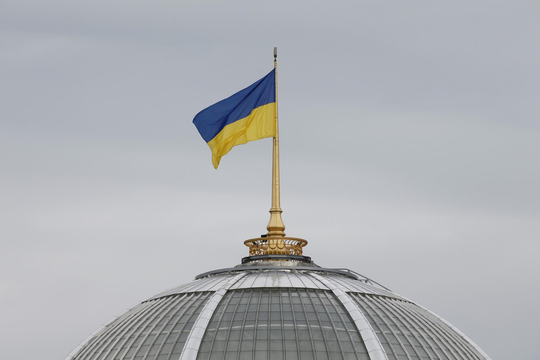 图为乌克兰议会楼顶