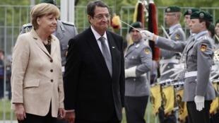 Канцлер Германии Ангела Меркель и президент Кипра Никос Анастасиадис в Берлине 06/05/2014