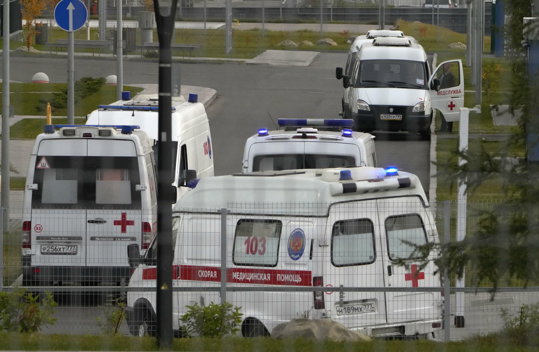 Russie Moscou Ambulances Covid-19 AP21285504831739