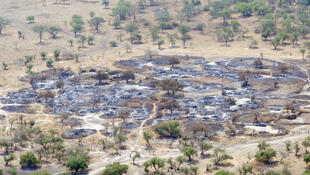 A town in Jonglei State after fightings.