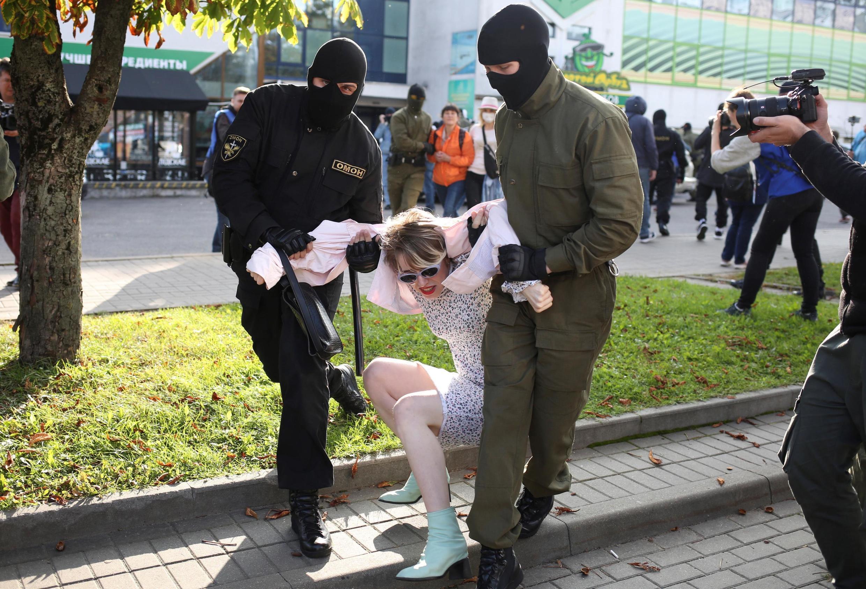 Forças anti-motins na Bielorrússia