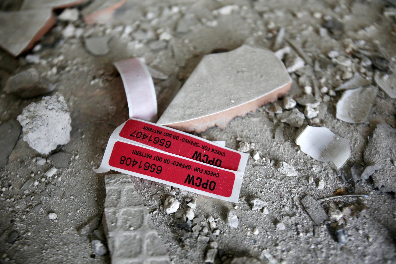 L'OIAC, l'Organisation pour l'interdiction des armes chimiques, enquête sur place en Syrie. Ici, le 23 avril à Douma, dans la Ghouta orientale.