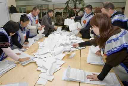 Votes are counted in the capital Bishkek