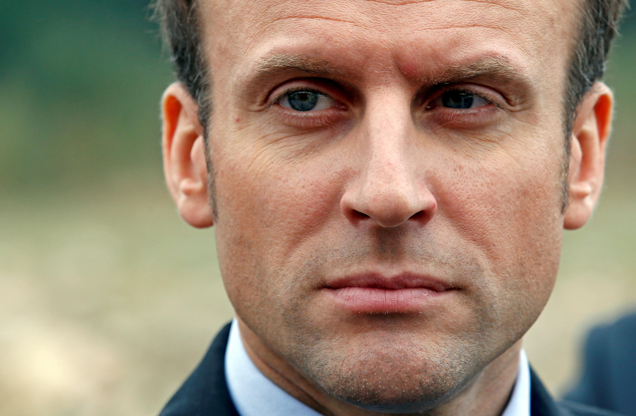 """Emmanuel Macron, head of the political movement """"En Marche"""" or """"Forward"""" and candidate for the 2017 French presidential election."""