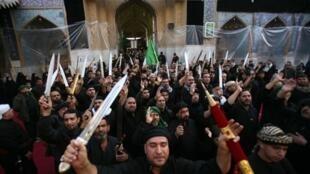 Shia pilgrims in Kerbala last year