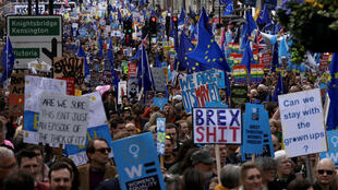 Anti-Brexit protestors took to the streets of London to voice their opposition to Britain's impending divorce from the EU.
