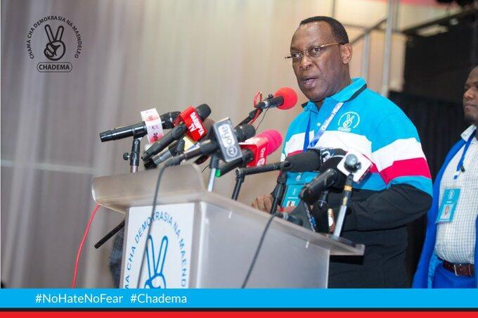 Kiongozi wa chama kikuu cha upinzai nchini Tanzania, CHADEMA, Freeman Mbowe.