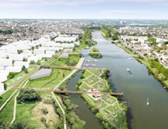 Previsualización del futuro barrio de Saint-Serge en Angers.