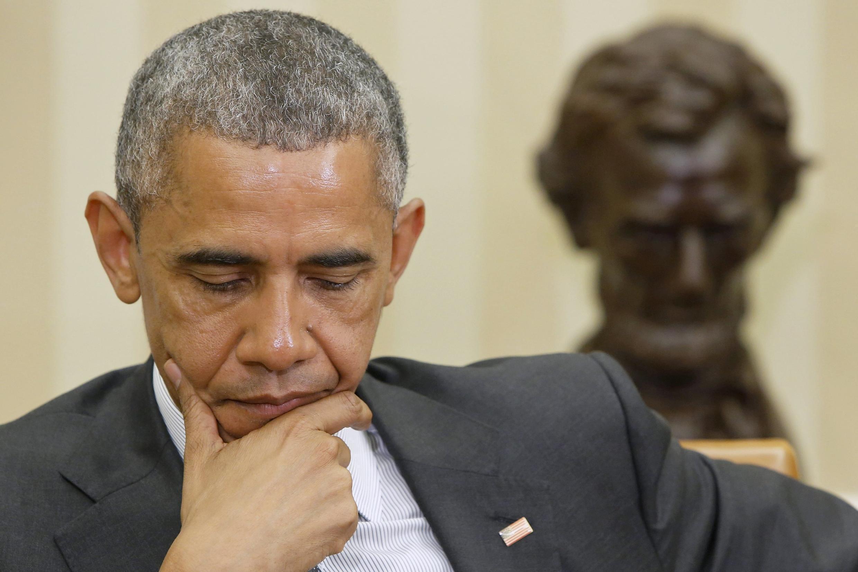 Президент США Барак Обама в Белом доме, Вашингтон, США, 21 мая 2015 г.