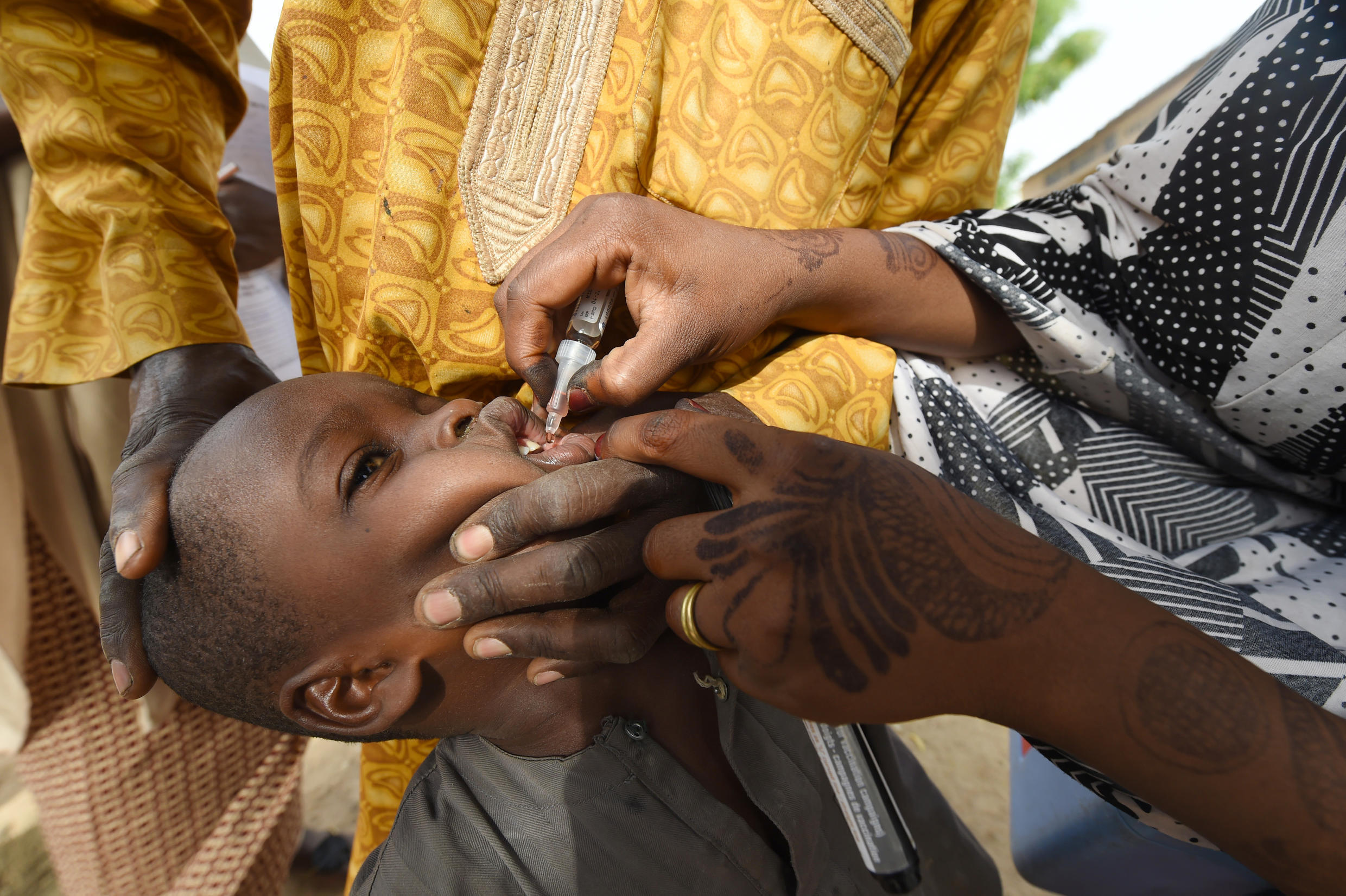 A child in Kano, northwest Nigeria receives the vaccine in 2017