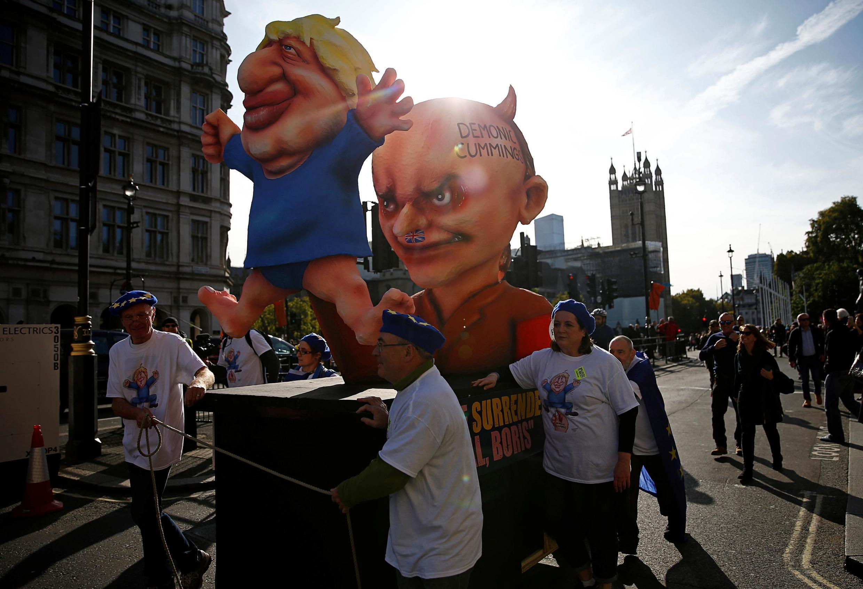 Manifestation devant le Parlement à Londres, ce 19 octobre 2019.
