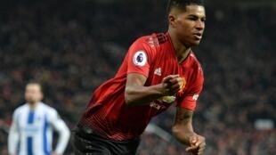 Dan wasan gaba na Manchester United Marcus Rashford.