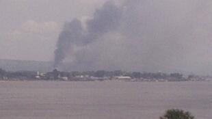 Дым над Браззавилем, 4 марта 2012 года