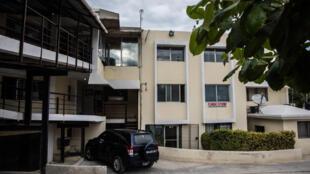 Após o crime, os corpos do casal francês foram levados para um hospital em Porto Príncipe