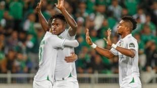 Lors du match de Ligue des champions africaine entre le Raja Casablanca et le Tout Puissant Mazembe.