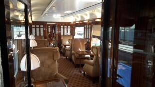 Une voiture de l'Orient Express à Paris, le 15 mai 2019.