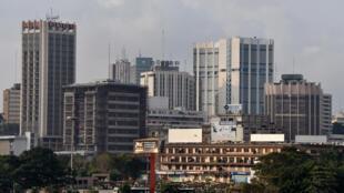 Une vue du quartier du Plateau, le quartier d'affaires d'Abidjan, capitale de la Côte d'Ivoire.