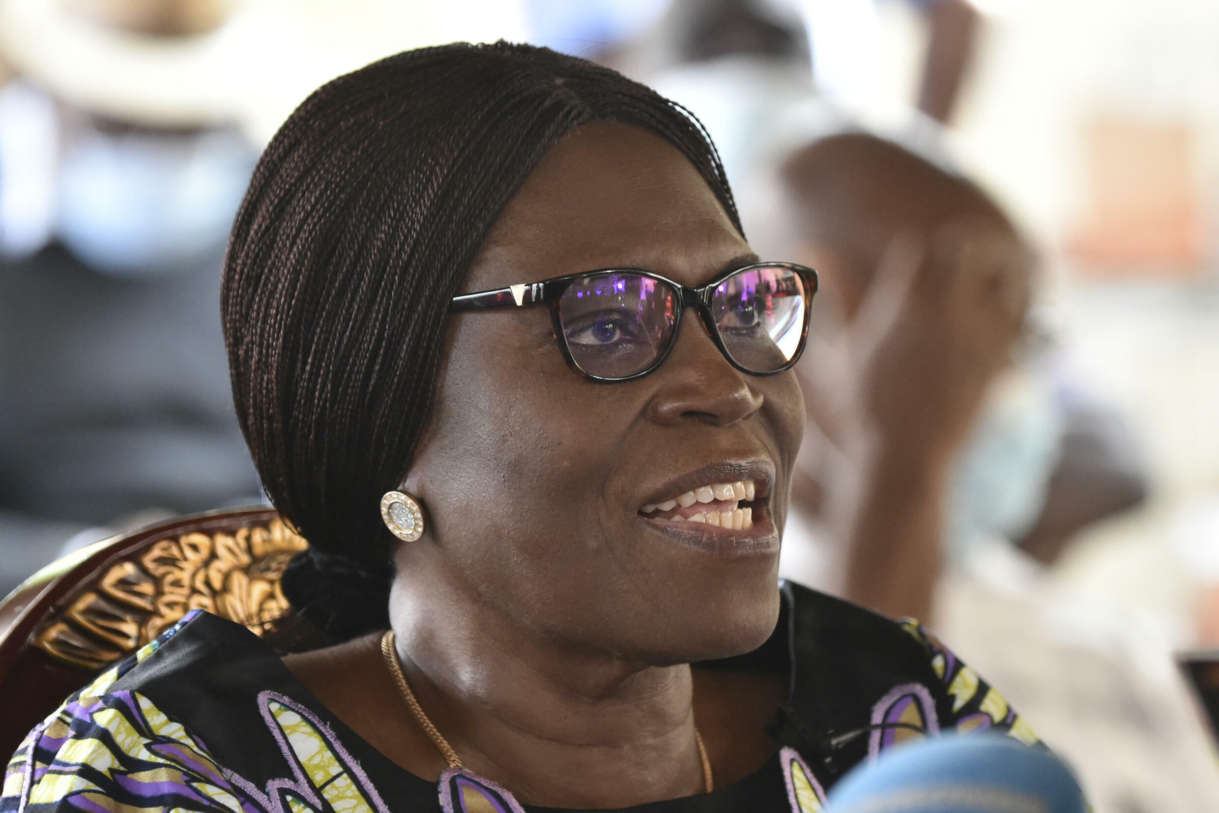 Former Ivory Coast first lady Simone Gbagbo, seen here in August 2020, faced charges of crimes against humanity following her husband's refusal to hand over power to Alassane Ouattara, who won a 2010 election