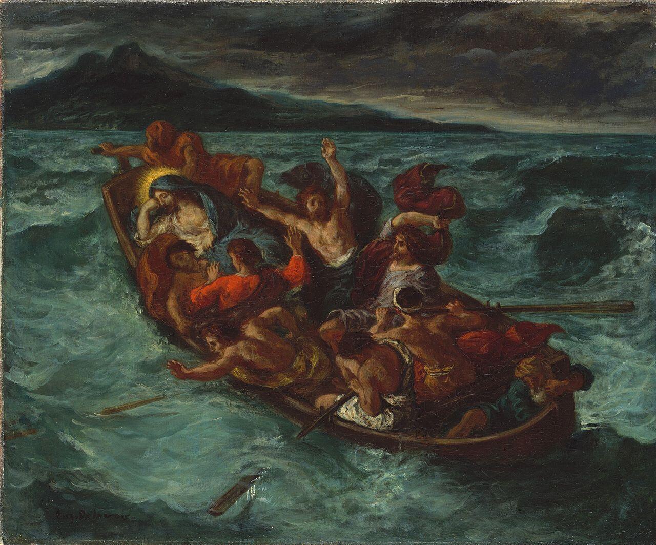 آرام کردن طوفان در دریا، 1853