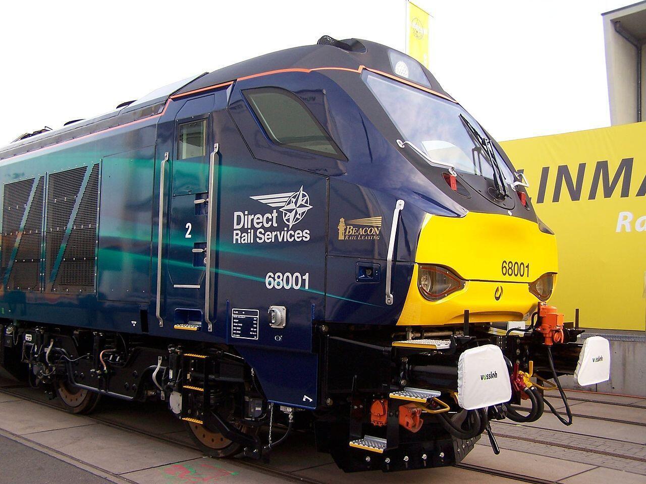 Công ty sản xuất đầu máy xe lửa Vossloh của Đức có thể bị đổi chủ. Ảnh minh họa một đầu máy xe lửa do tập đoàn Đức Vossloh sản xuất, chụp tại Berlin năm 2014.