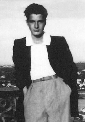 Jacques Chirac sur une photo datée de 1950. Il est alors âgé de 18 ans.