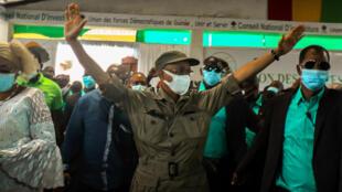 Cellou Dalein Diallo, candidat à la présidentielle en Guinée, lors de son investiture, le 6 septembre 2020.