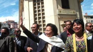 Lalao Ravalomanana, l'épouse de l'ex-président Marc Ravalomanana, le 25 avril 2013 à Antananarivo.