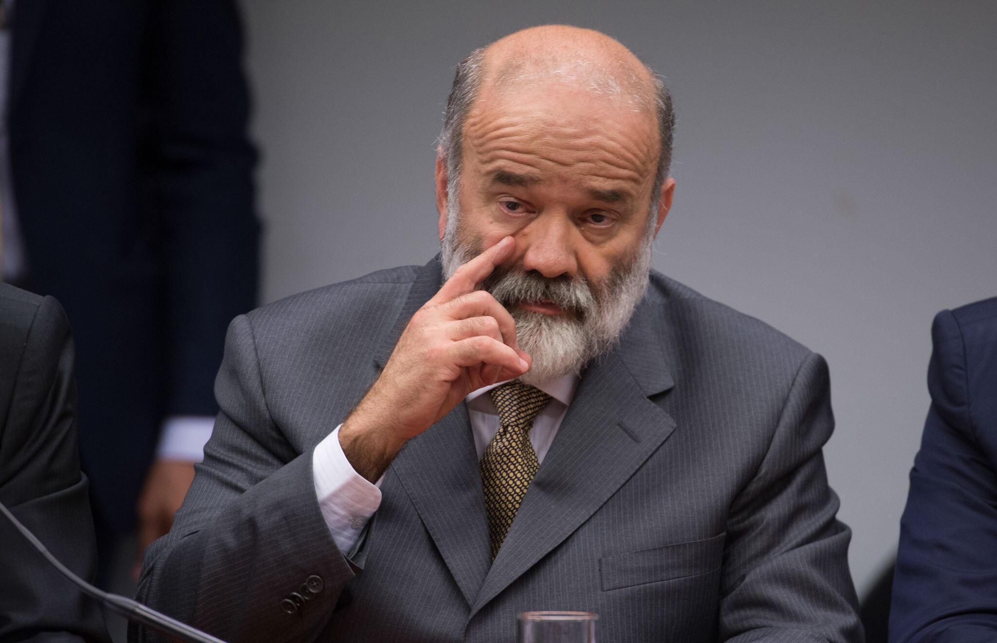 L'ancien trésorier du Parti des Travailleurs (PT, gauche) au pouvoir au Brésil, Joao Vaccari.