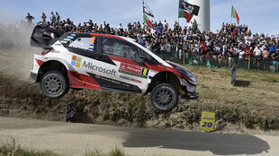 Ott Tanak flew to victory on the Fafe jump on the final stage in the last Rally de Portugal in 2019
