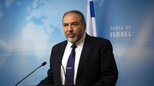 Avigdor Lieberman, ministre israélien des Affaires étrangères, le 2 décembre 2014.