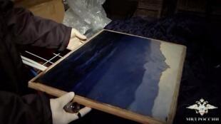 A pintura de Arkhip Kuindzhi, estimada em € 160.000, foi encontrada em um canteiro de obras onde ela estava escondida.