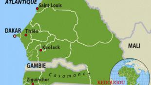 La région de Kedougou se trouve à l'extrême sud du Sénégal, à la frontière avec le Mali.