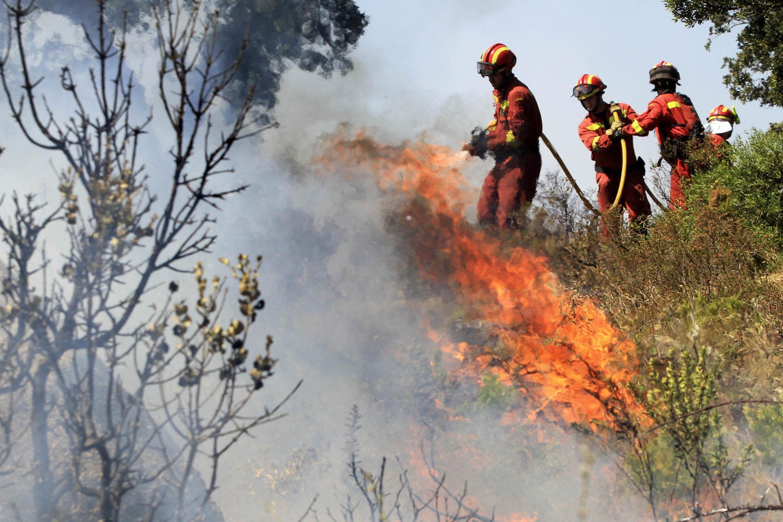 Centenas de bombeiros combateram o fogo nas florestas nos últimos dias na Europa.