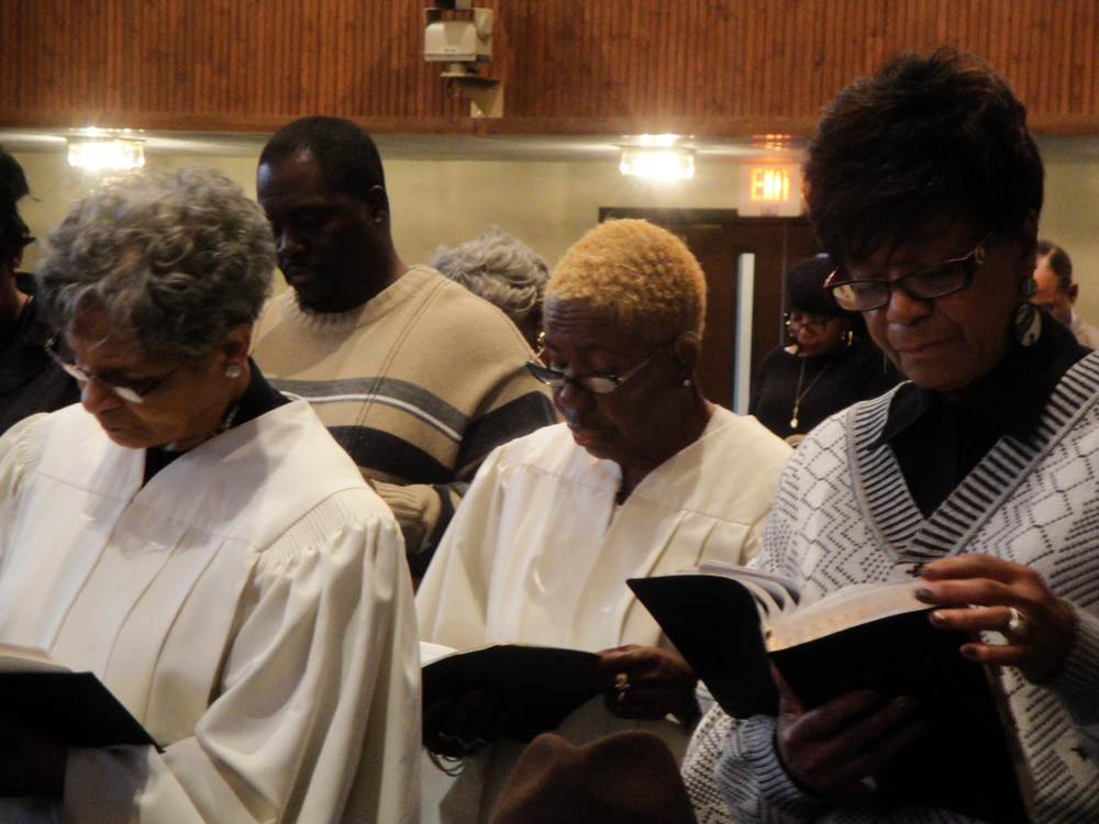 Studying the text at Greater New Hope Missionary Baptist Church