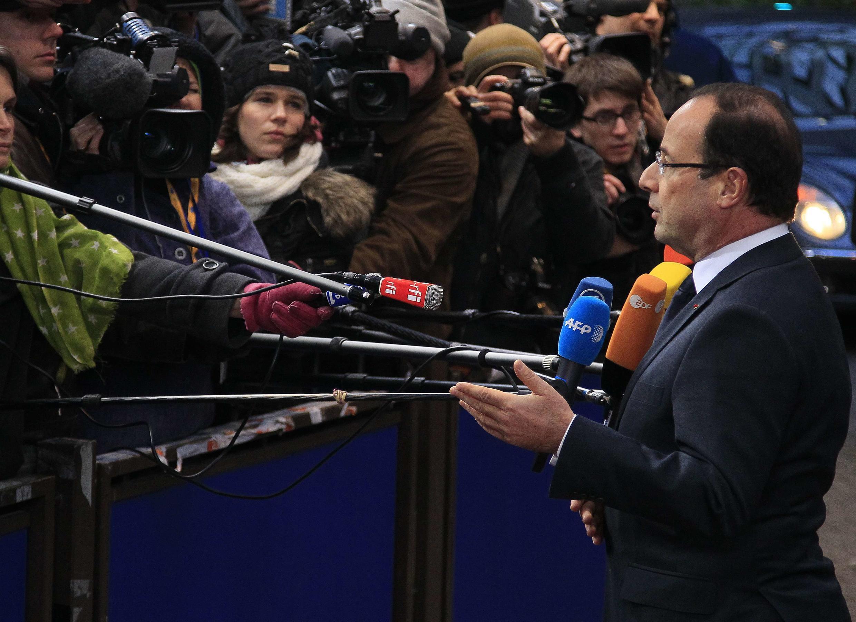 François Hollande in Brussels Thursday