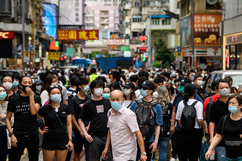 Một cuộc biều tình đòi dân chủ tại Hồng Kông, ngày 27/05/2020.