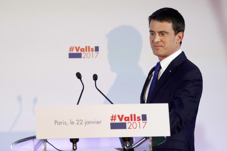 Declaração de Manuel Valls após o segundo lugar nas primárias do Partido Socialista e de seus aliados, em 22 de janeiro de 2017.