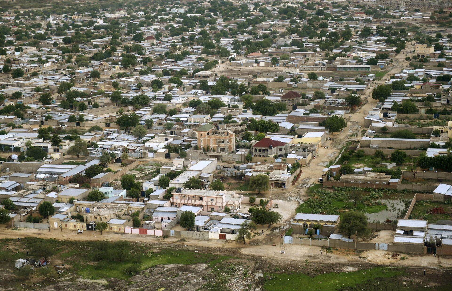 Vue aérienne de N'Djamena, la capitale tchadienne (image d'illustration).