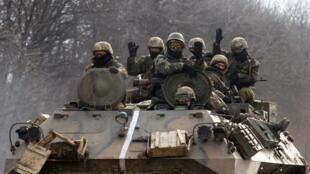 Wasu sojin kasar Unkraine a yankin Donetsk.