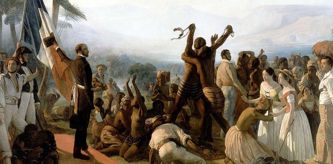 'La abolición de la esclavitud en las colonias francesas en 1848' es un cuadro del pintor francés François-Auguste Biard realizado en 1849.