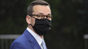 "Polish Prime Minister Mateusz Morawiecki (pictured October 2020) said a ""European oligarchy"" was trying to bully weaker EU members, while his Hungarian counterpart Viktor Orban called the conditionality plan a form of ""blackmail"""