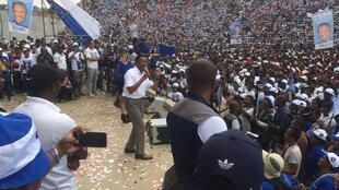 Hery Rajaonarimampianina, ancien président, a tenu son meeting, ce dimanche 4 novembre, à Antananarivo, avant la présidentielle prévue le 7 novembre 2018.