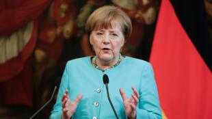 Thủ tướng Đức Angela Merkel tại Roma ngày 05/05/2016.