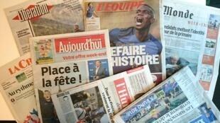 Primeiras páginas dos jornais franceses de 10 de junho de 2016
