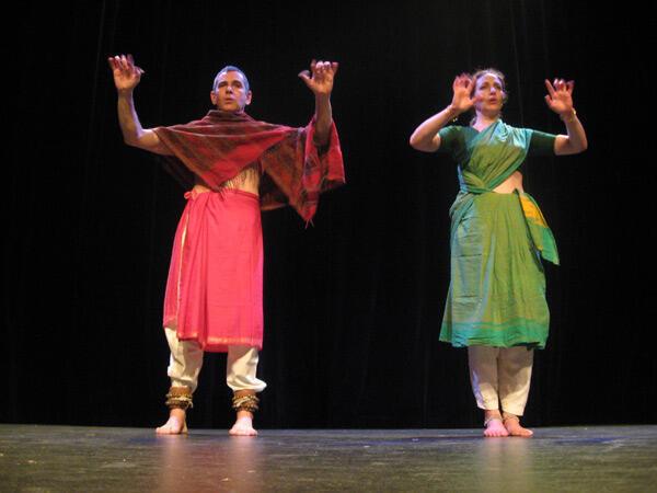 Brigitte Chataignier of the Prana dance troupe