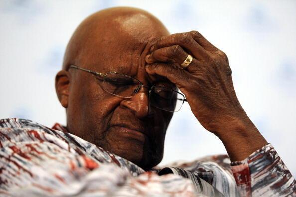 Desmond Tutu, archevêque sud-africain et prix Nobel de la Paix.